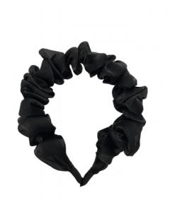 JA•NI hair Accessories - Headband, The Black Wavy Silk