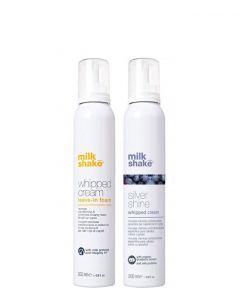 Milk_Shake Conditioning & Silver Shine Whipped Cream Duo, 300 ml.